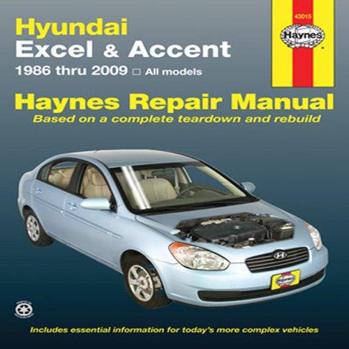 9781563928048: Hundai Excel & Accent 1986 thru 2009: All Models (Haynes Repair Manual)
