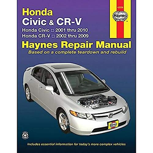 9781563928499: Honda Civic & CRV Automotive Repair Manual: 01-10 (Haynes Automotive Repair Manuals)