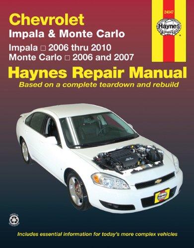 9781563928949: Chevrolet Impala (06-10) & Monte Carlo (06-07) (Haynes Repair Manual)