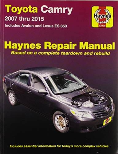 9781563929090: Toyota Camry, Avalon, and Lexus ES 350 2007-2011 Repair Manual (Haynes Repair Manual)