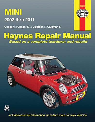 9781563929205: Mini Cooper, Cooper S, Clubman & Clubman S: 2002 Through 2011 (Haynes Repair Manual)