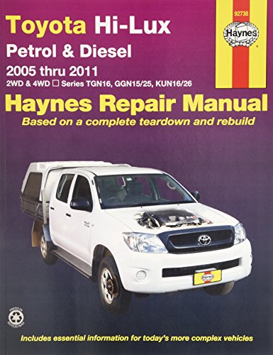9781563929458: Toyota Hi-Lux P&D 2WD 4WD Automotive Repair Manual: 2005-11 (Haynes Automotive Repair Manuals)