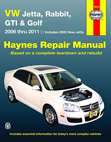 9781563929489: VW Jetta, Rabbit, GI, Golf Automotive Repair Manual: 2006-2011