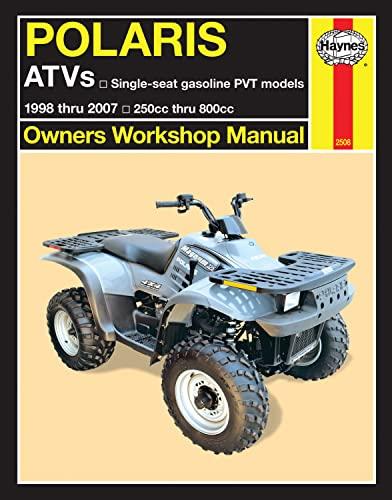9781563929533: Polaris ATVs: 1998 thru 2007 250cc thru 800cc (Owners' Workshop Manual)