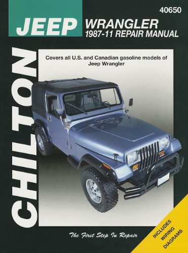9781563929847: Chilton Total Car Care Jeep Wrangler 1987-2011 Repair Manual (Chilton's Total Care)