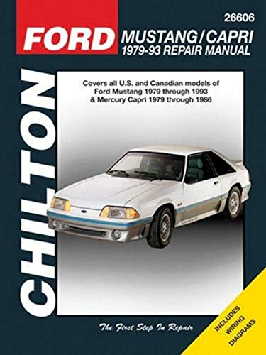 9781563929953: Ford Mustang 79-93 & Mercury Capri 79-86 (Chilton) (Chilton's Total Car Care Repair Manuals)