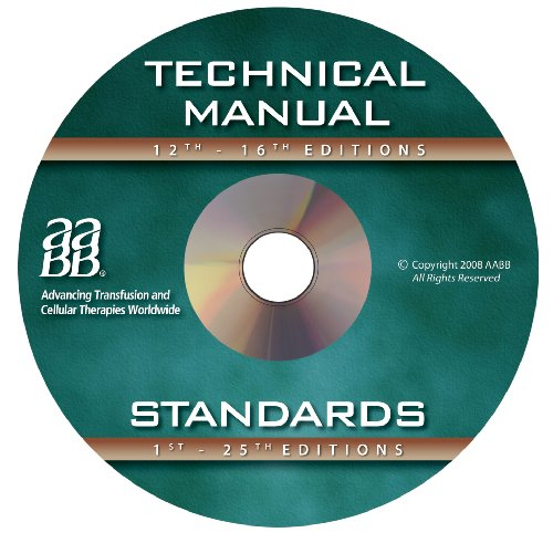 9781563952722: Technical Manual and Standards for Blood Banks and Transfusion Services on CD-ROM