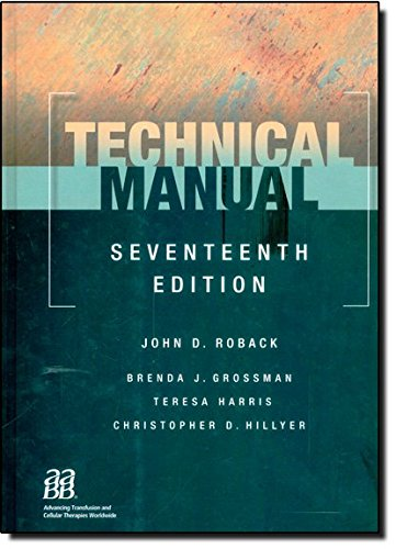 9781563953156: Technical Manual, 17th edition (Technical Manual of the American Assoc of Blood Banks)