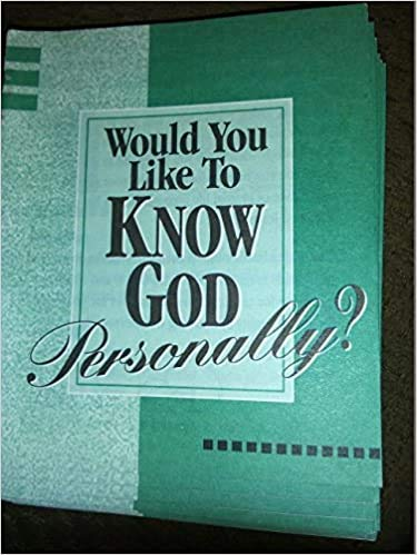 9781563991585: Would You Like to Know God Personally?
