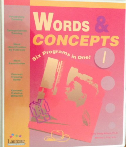 9781564050908: Words & Concepts: Six Programs in One Level I-Special Needs Software