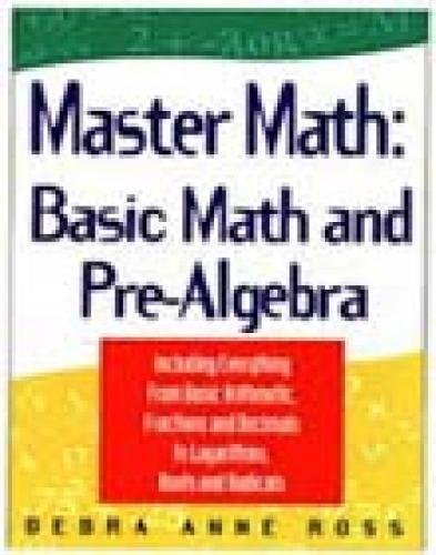 9781564142146: Master Math: Basic Math and Pre-Algebra