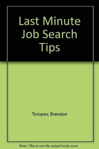 Last Minute Job Search Tips