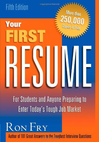 9781564145833: Your First Resume