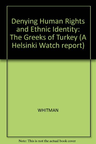 Denying Human Rights and Ethnic Identity the: Whitman, Alice