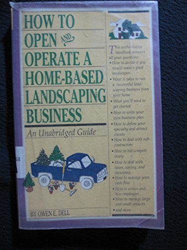 9781564403971: How to Start a Home-Based Landscaping Business