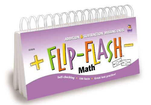 9781564513892: Flip-Flash(tm) Math, Missing Facts Addition and Subtraction