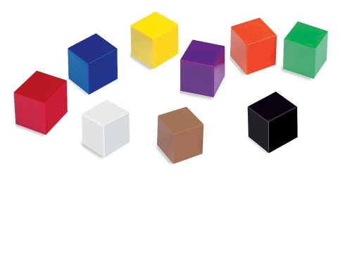 9781564514639: Plastic One-Inch Colored Cubes