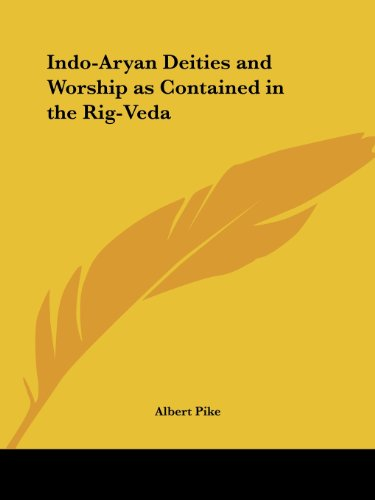 9781564591838: Indo-Aryan Deities and Worship as Contained in the Rig-Veda