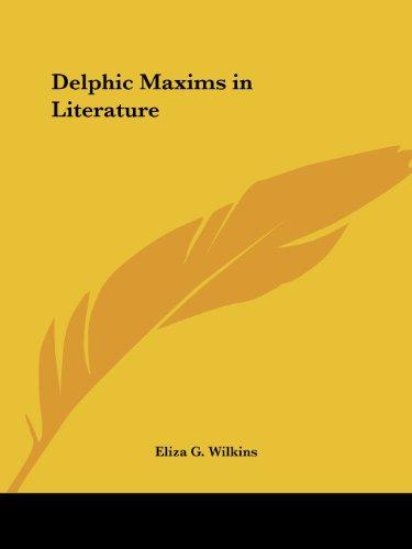 9781564594235: Delphic Maxims in Literature