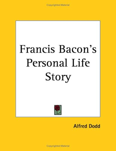 9781564595638: Francis Bacon's Personal Life Story