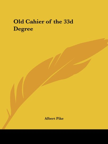 9781564599957: Old Cahier of the 33d Degree