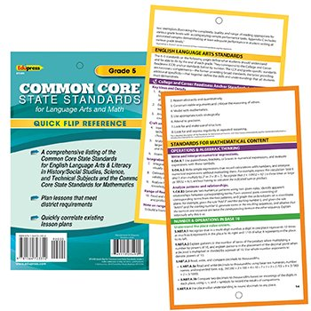 9781564723352: Gr 5 Quick Flip For Common Core Standards