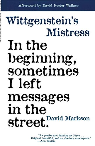 9781564782113: Wittgenstein's Mistress (American Literature (Dalkey Archive))