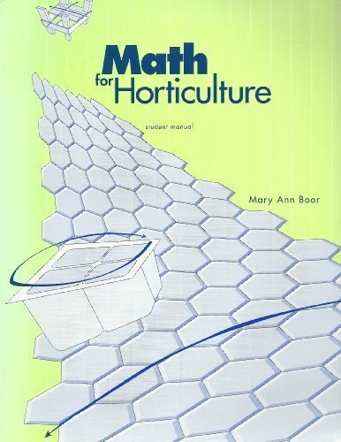 9781565020030: Math for Horticulture:Student Manual by Mary Ann Boor (1994) Paperback