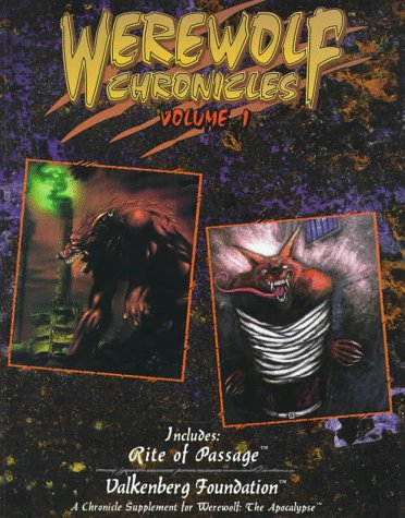 9781565043213: Werewolf Chronicles, vol. 1 (Werewolf the Apocalypse Roleplaying Game)