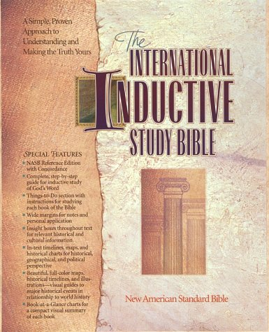 9781565070936: International Inductive Study Bible: New American Standard Bible/Burgundy Leather Cover/Gilt Edged (English and Multilingual Edition)
