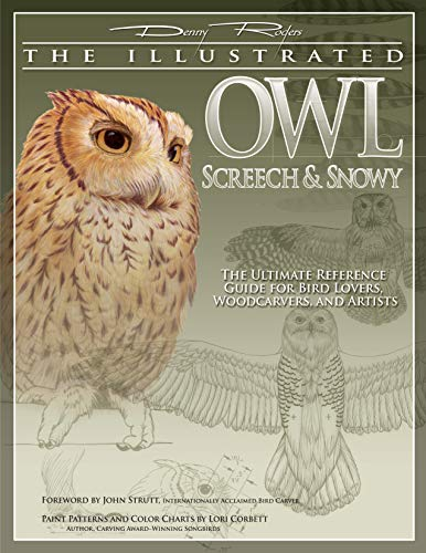 9781565232853: Illustrated Owl: Screech & Snowy: The Ultimate Reference Guide for Bird Lovers, Woodcarvers, & Artists (The Denny Rogers Visual Reference series)
