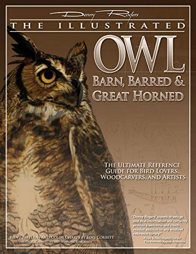 9781565233133: Illustrated Owl: Barn, Barred & Great Horned: The Ultimate Reference Guide for Bird Lovers, Artists, & Woodcarvers (The Denny Rogers Visual Reference series)