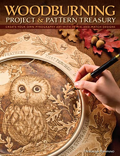 9781565234826: Woodburning Project & Pattern Treasury: Create Your Own Pyrography Art with 70 Mix-and-match Designs