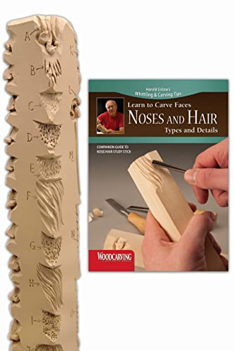 9781565235809: Noses and Hair Study Stick Kit(Learn to Carve Faces with Harold Enlow)
