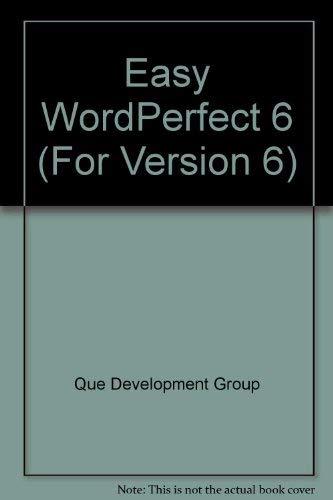 Easy Wordperfect (For Version 6): O'Hara, Shelley