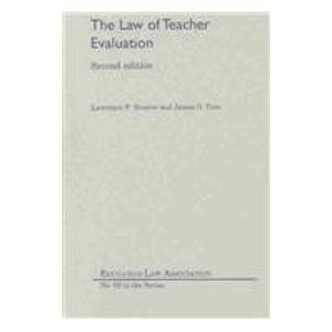 9781565341074: The Law of Teacher Evaluation (N O L P E Monograph Series)