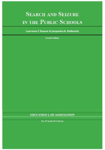 9781565341579: Search & Seizure in the Public Schools (N O L P E Monograph Series)