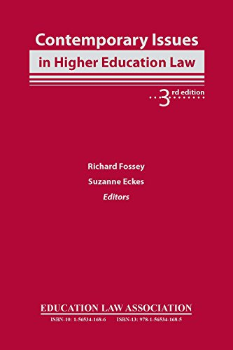 9781565341685: Contemporary Issues in Higher Education Law, 3rd edition