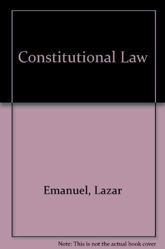 Constitutional Law: Lazar Emanuel