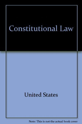 9781565420380: Constitutional law (Emanuel law outlines)