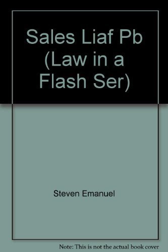 9781565425675: Sales: UCC Article 2 (Law in a Flash)