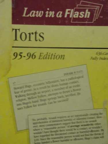 9781565425682: Torts (Law in a Flash Cards Ser)