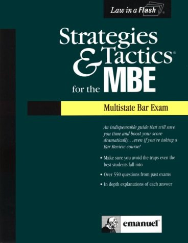 9781565425798: Strategies & Tactics for the MBE (Multistate Bar Exam)