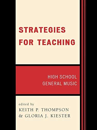9781565450851: Strategies for Teaching: High School General Music