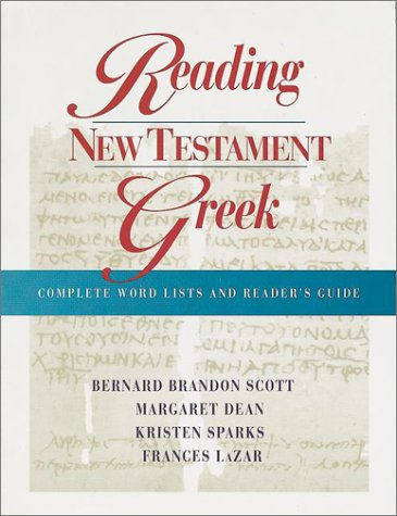 Reading New Testament Greek: Complete Word Lists: Margaret Dean