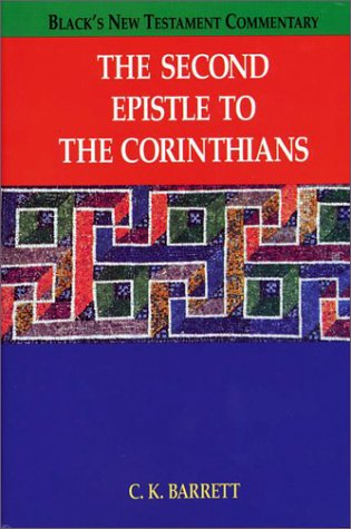 9781565630215: The Second Epistle to the Corinthians (Black's New Testament Commentary)