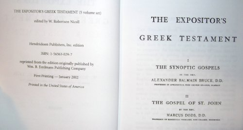 The Expositor's Greek New Testament (5 Volumes): Editor W. Robertson