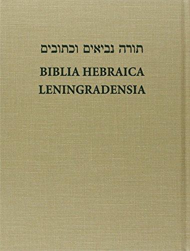 9781565630895: Biblia Hebraica Leningradensia: Prepared According to the Vocalization, Accents, and Masora of Aaron Ben Moses Ben Asher in the Leningrad Codex