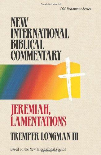 9781565632240: Jeremiah, Lamentations (New International Biblical Commentary)