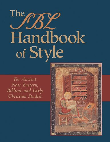 9781565634879: The SBL Style Manual